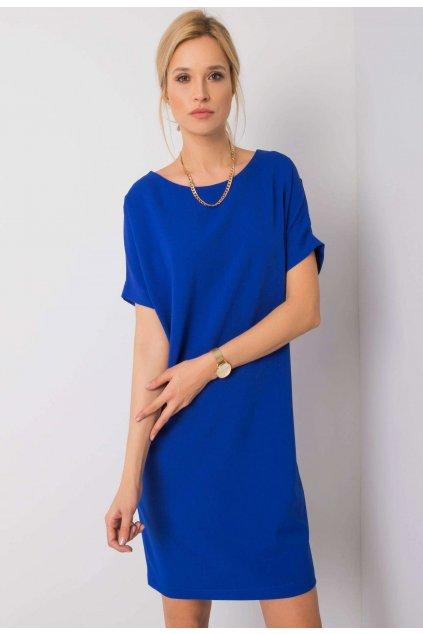 Kobaltové dámské koktejlové šaty