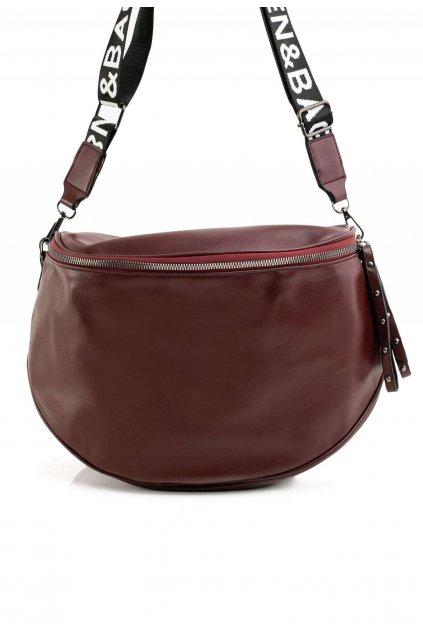 Bordová dámská kabelka
