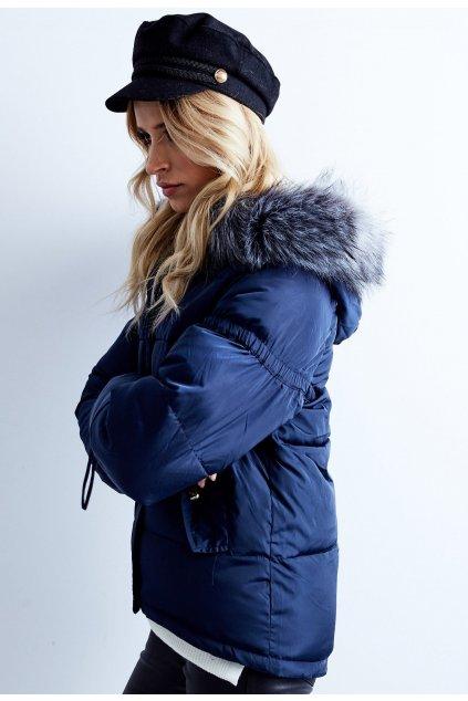 Modrá dámská zimní bunda