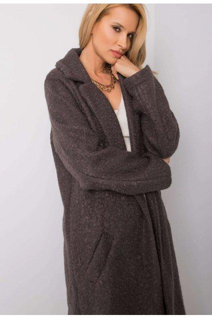 Grafitový dámský kabát