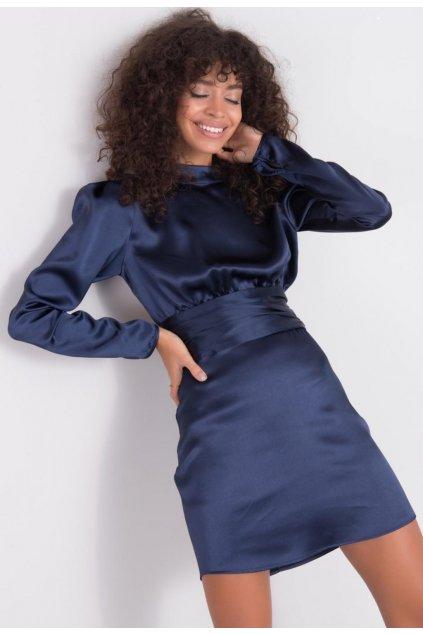 Modré dámské koktejlové šaty