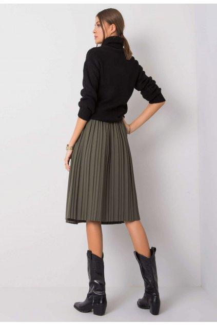 Khaki dámská plisovaná sukně