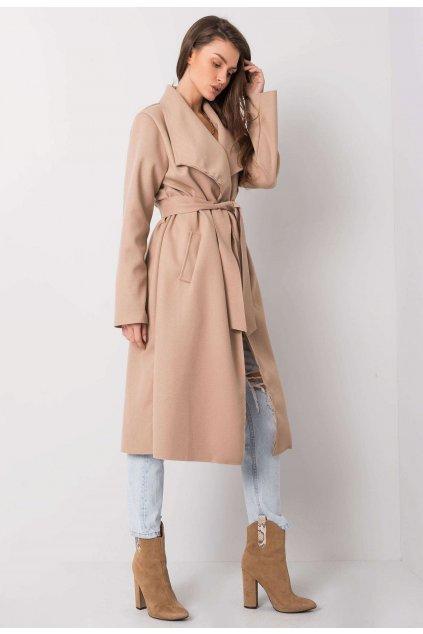 Kávový dámský kabát
