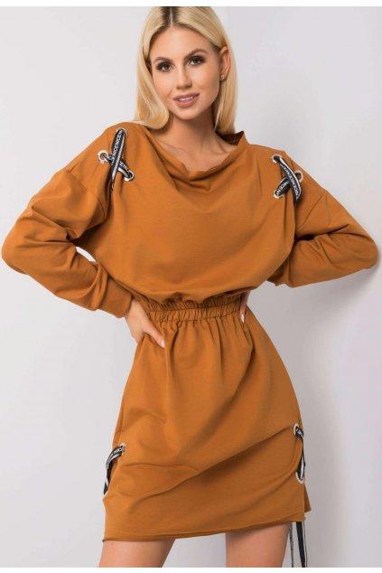 Hnědé dámské šaty