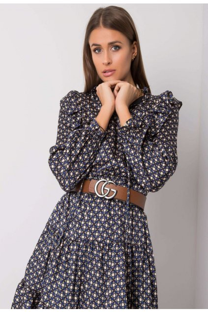 Kobaltové dámské šaty