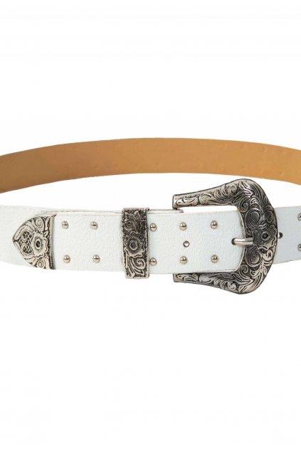 Bílý dámský pásek