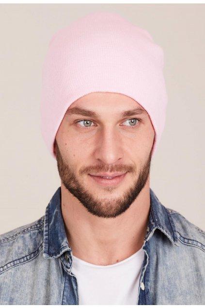 Růžová pánská čepice