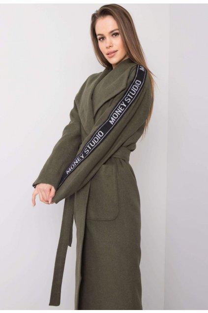 Khaki dámský kabát