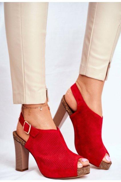 Červené dámské sandály