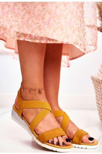 Žluté dámské sandály