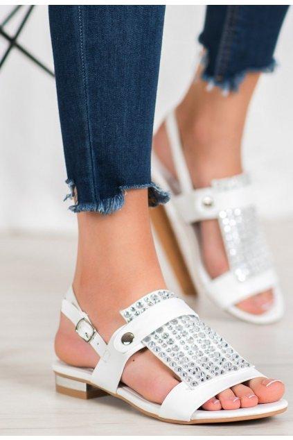 Bílé dámské sandály