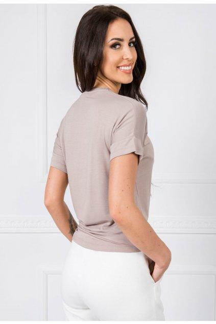 Béžové dámské tričko