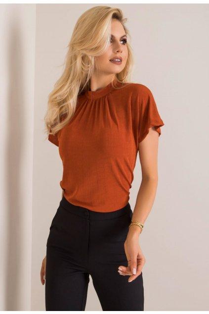 Oranžové dámská elegantní halenka