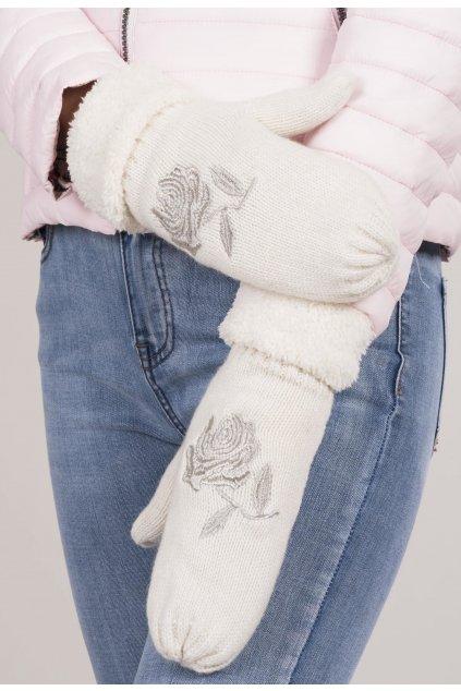 Bílé dámské rukavice