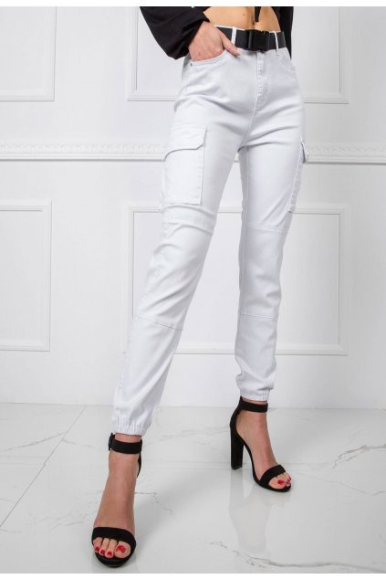 Bílé dámské džíny