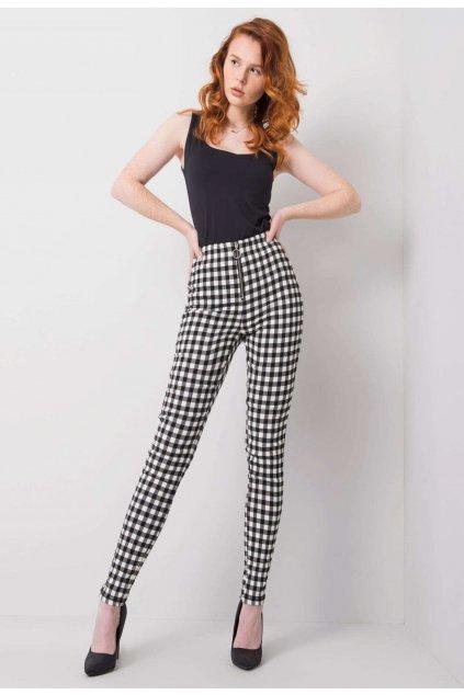 Bílo - černé dámské kalhoty