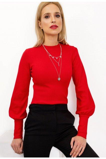 Červená dámská halenka