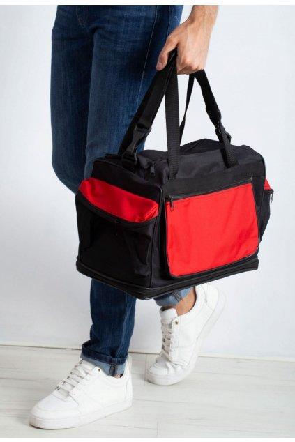 Červená pánská taška přes rameno