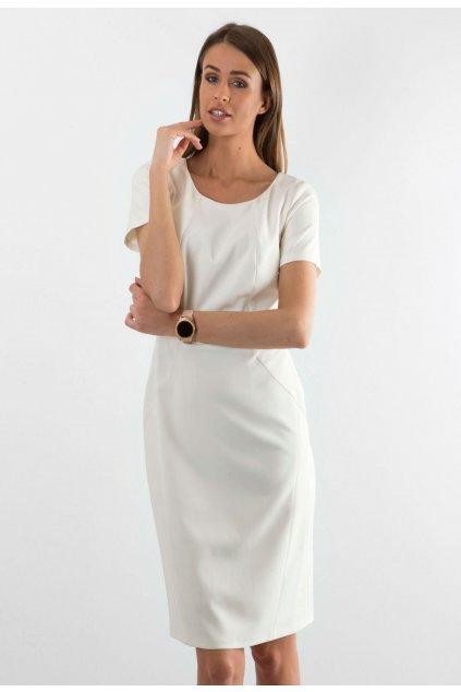 Ecrové dámské šaty