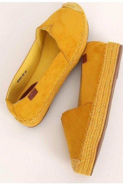 Žluté dámské espadrilky