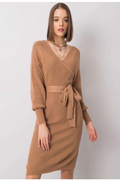 Béžové dámské šaty