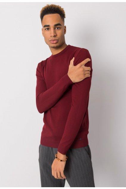 Bordový pánský svetr