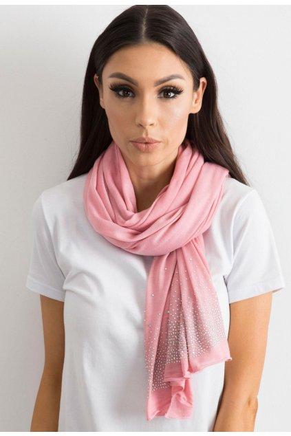 Růžová dámská šatka