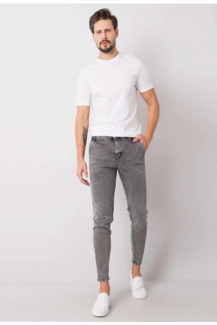 Šedé pánské džíny
