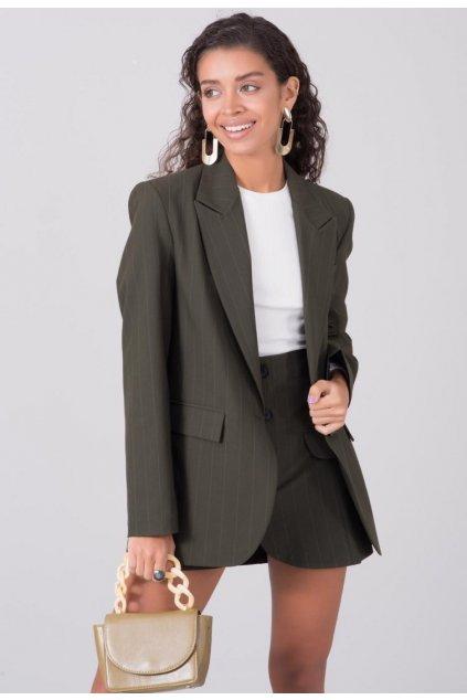 Khaki dámské sako