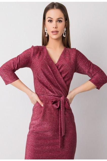 Bordové dámské koktejlové šaty
