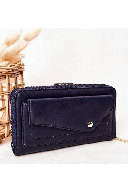 Tmavě modrá dámská peněženka