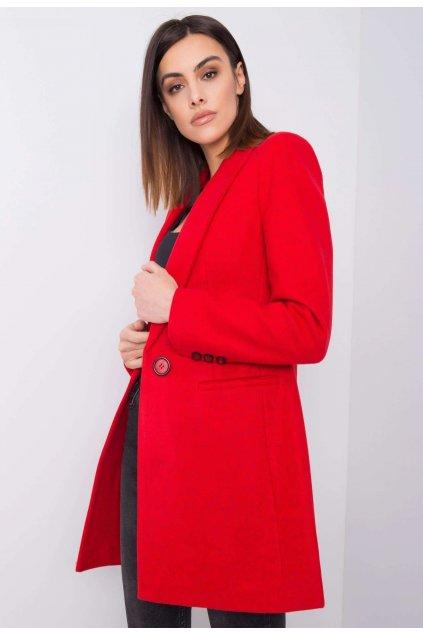Červený dámský kabát