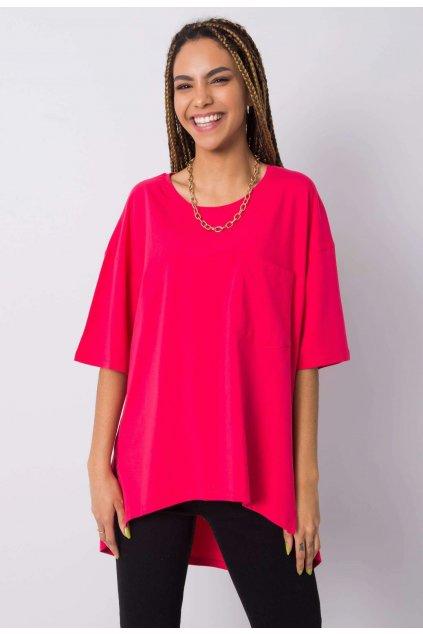 Růžové dámské tričko