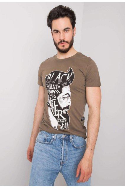 Khaki pánské tričko