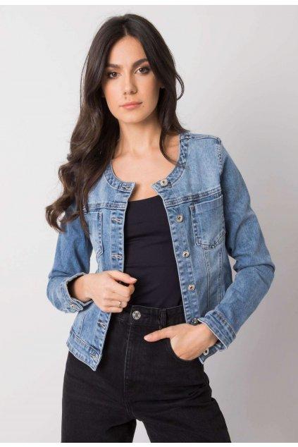Modrá dámská džínová bunda