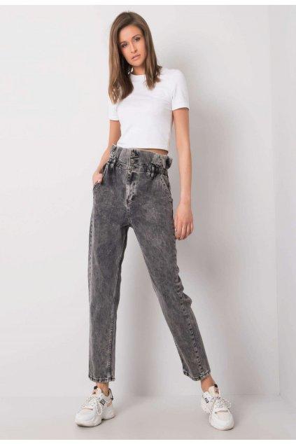 Šedé dámské džíny