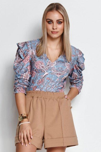 elegancka bluzka damska z bufiastymi rekawami elana 18 m656 (6)