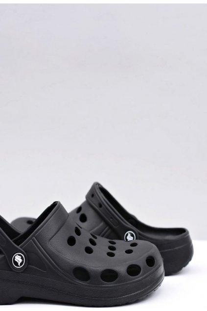 Černé pánské pantofle