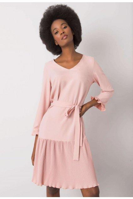 Růžové dámské šaty