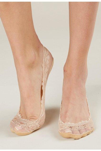 Béžové dámské ponožky