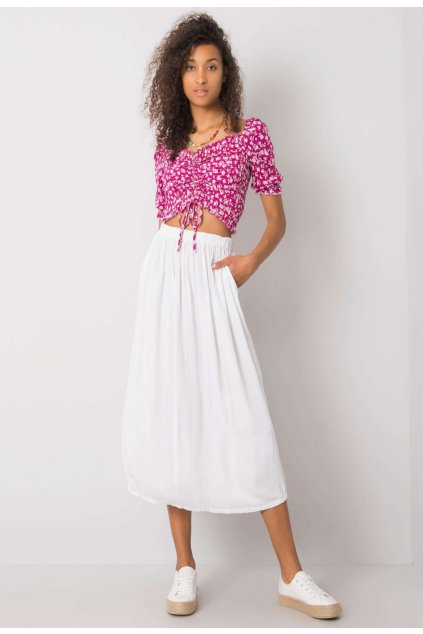 Bílá dámská pouzdrová sukně