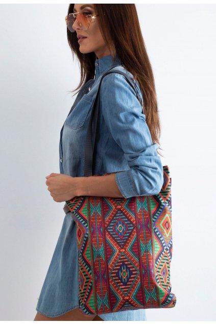 Vícebarevná dámská plážová taška