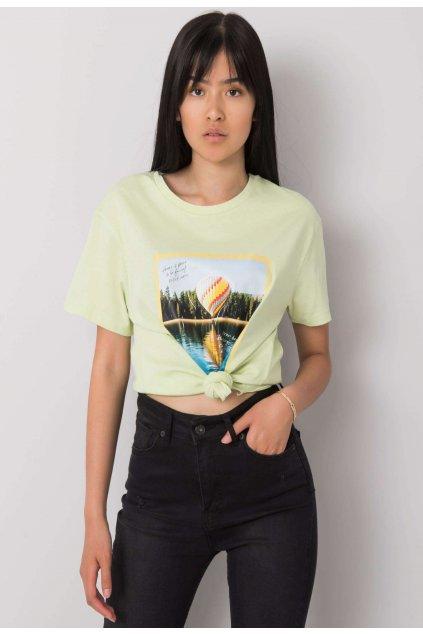 Zelené dámské tričko s potiskem