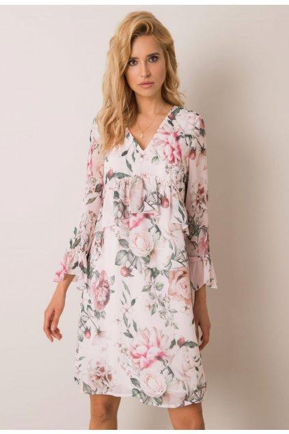 Růžové dámské společenské šaty