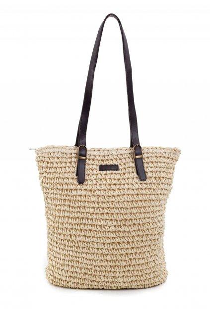 Béžová dámská plážová taška