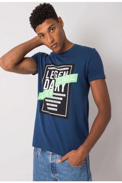 Modré pánské tričko