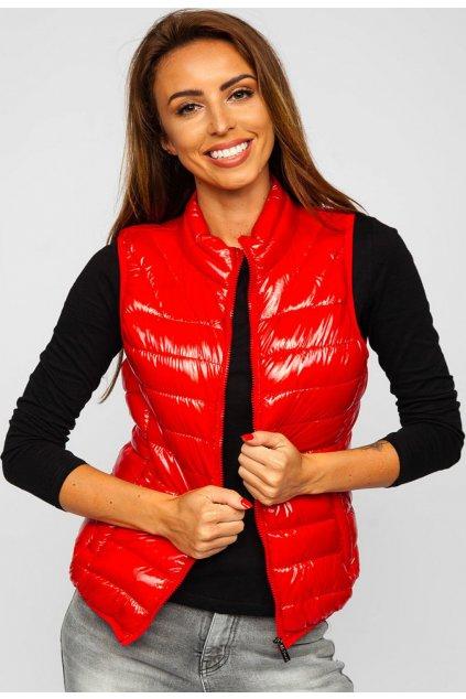 Červená dámská vesta