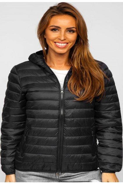 Černá dámská přechodná bunda