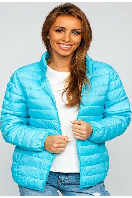 Modrá dámská přechodná bunda