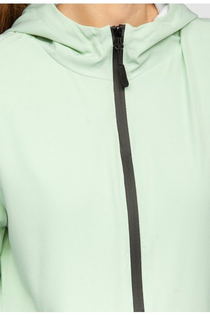 Zelená dámská přechodná bunda